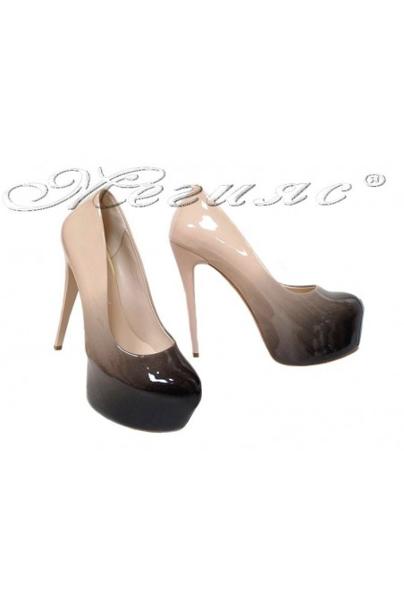 Lady elegant shoes 50 beige+black