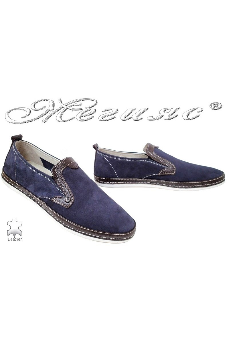 Men shoes FENOMEN 222 blue leather