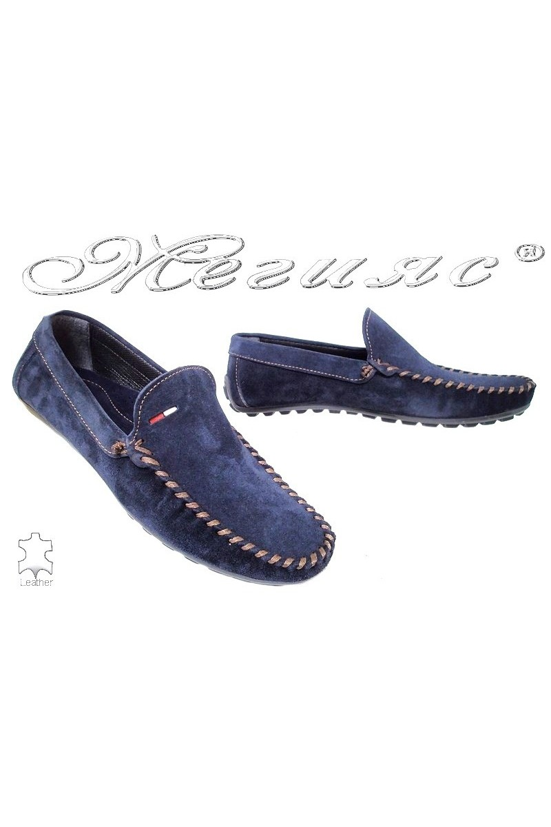 Men shoes 02 blue leather