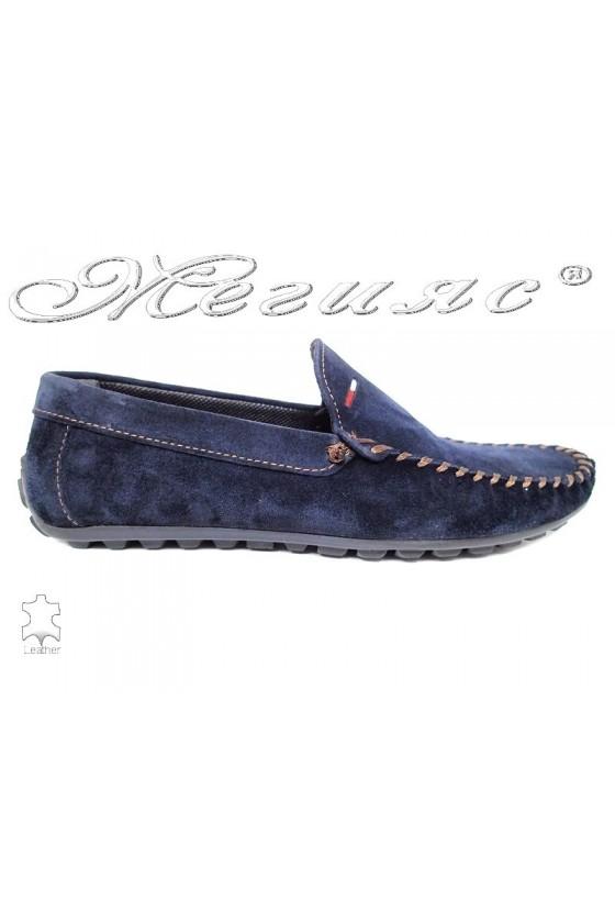 Men shoes 02 blue leather