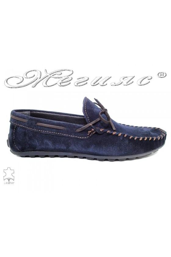 Men shoes 01 blue leather
