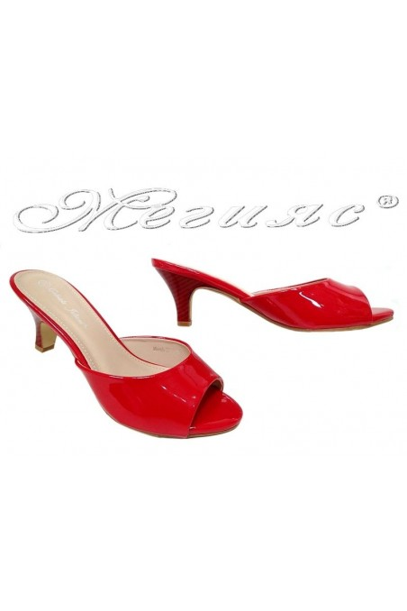 Lady sandals 2016-49 red pattent