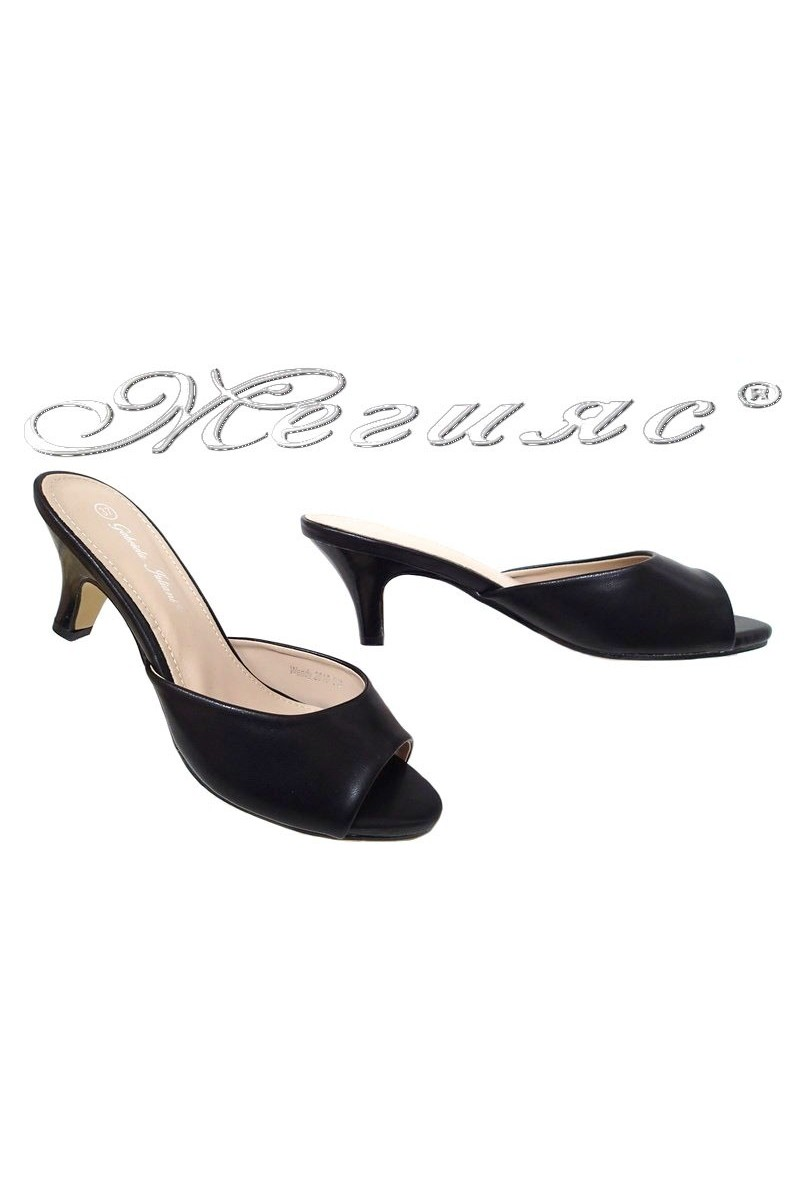 Lady sandals 2016-53 black pu