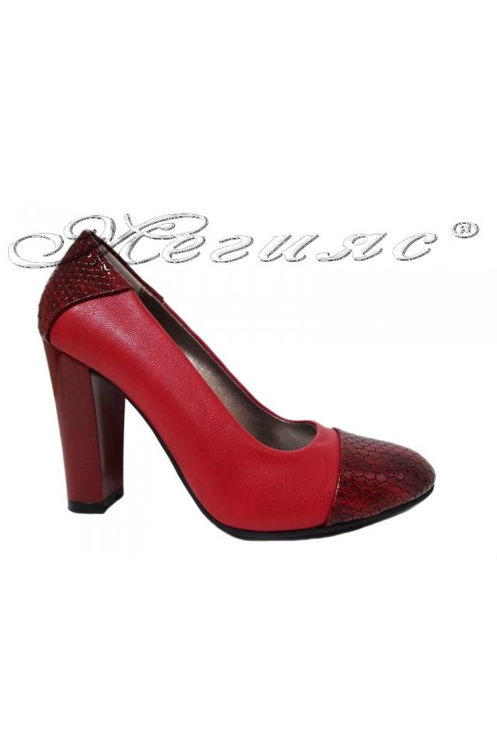 Lady elegant shoes 75 red pu