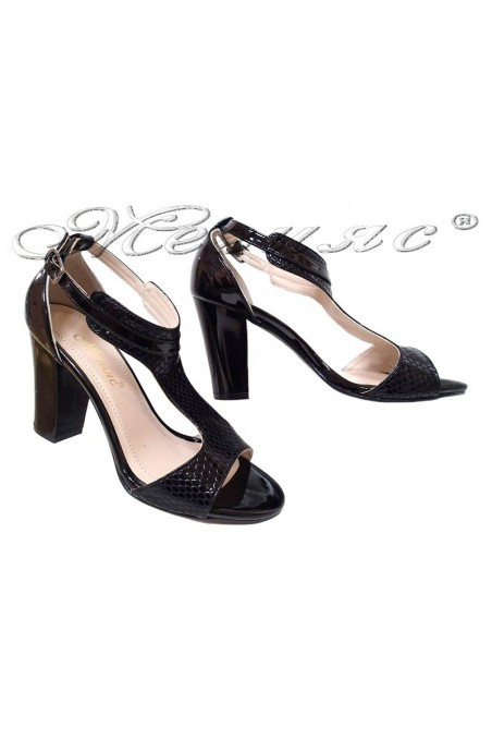 Women sandals 994 black pu
