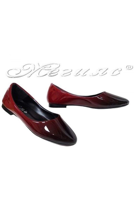 Дамски обувки 101 червени преливащ лак за всеки ден