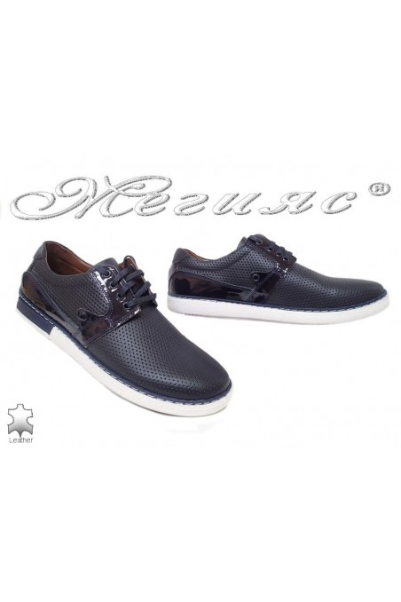 Men's shoes 626 dark blue leather