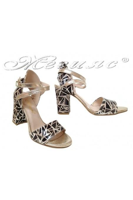 Women elegant sandals 936 black/gold