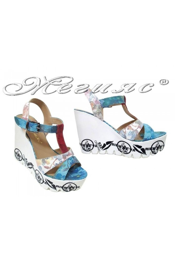 Lady platform sandals 941 255 white/blue pu