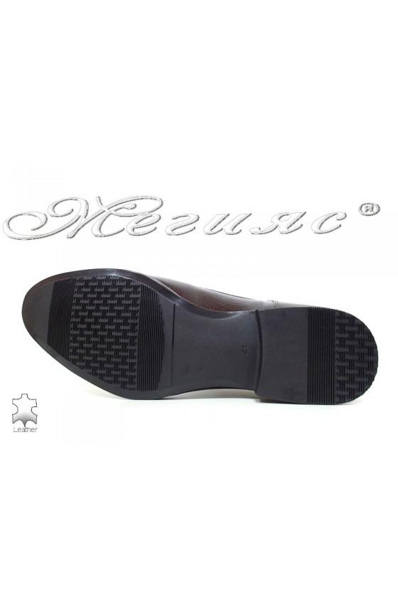 Мъжки обувки бордо лак елегантни Фантазия 16036
