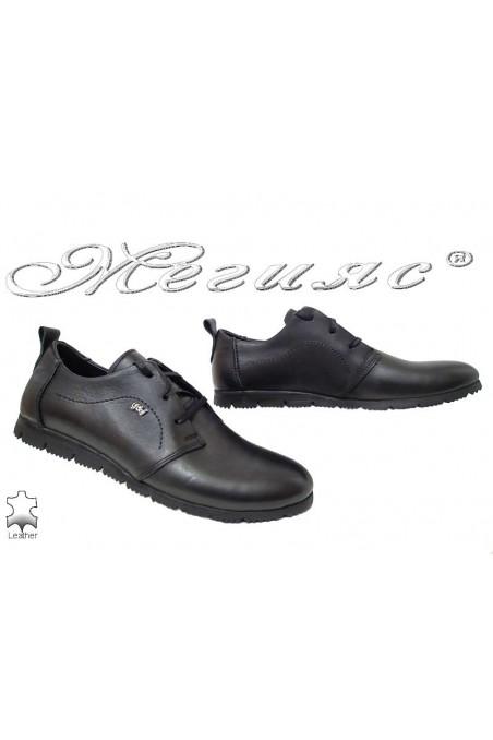Men shoes 545 black leather