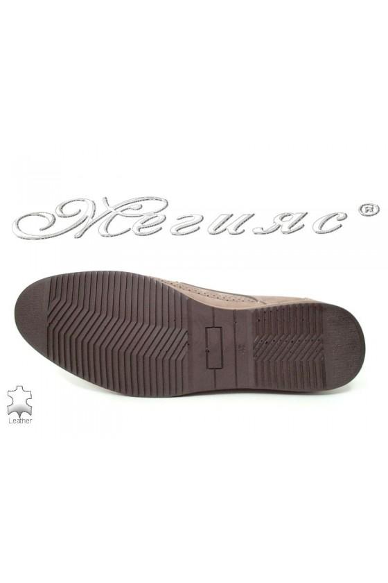 Men's shoes  500-602  beige leather