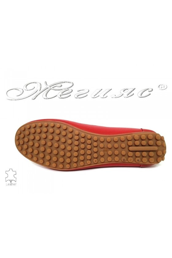 Women shoes 811 red leatehr