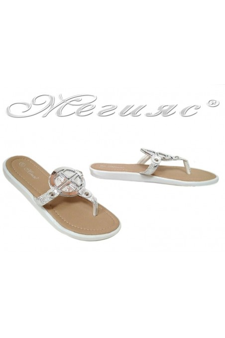 Lady sandals S-111 white pu