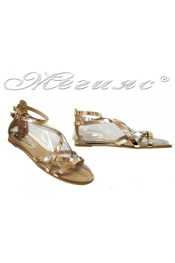 Lady sandals  Jess 20S16-256 gold pu
