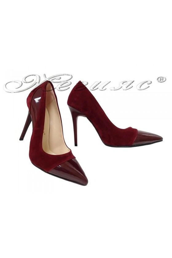Lady shoes 16/303 bordo