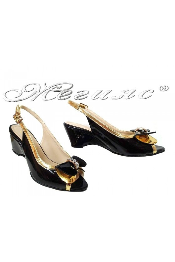 Lady elegant sandals 159 black patent