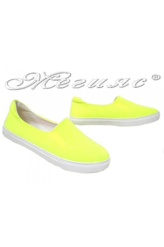 Дамски спортни обувки 20S16-354 жълти текстил