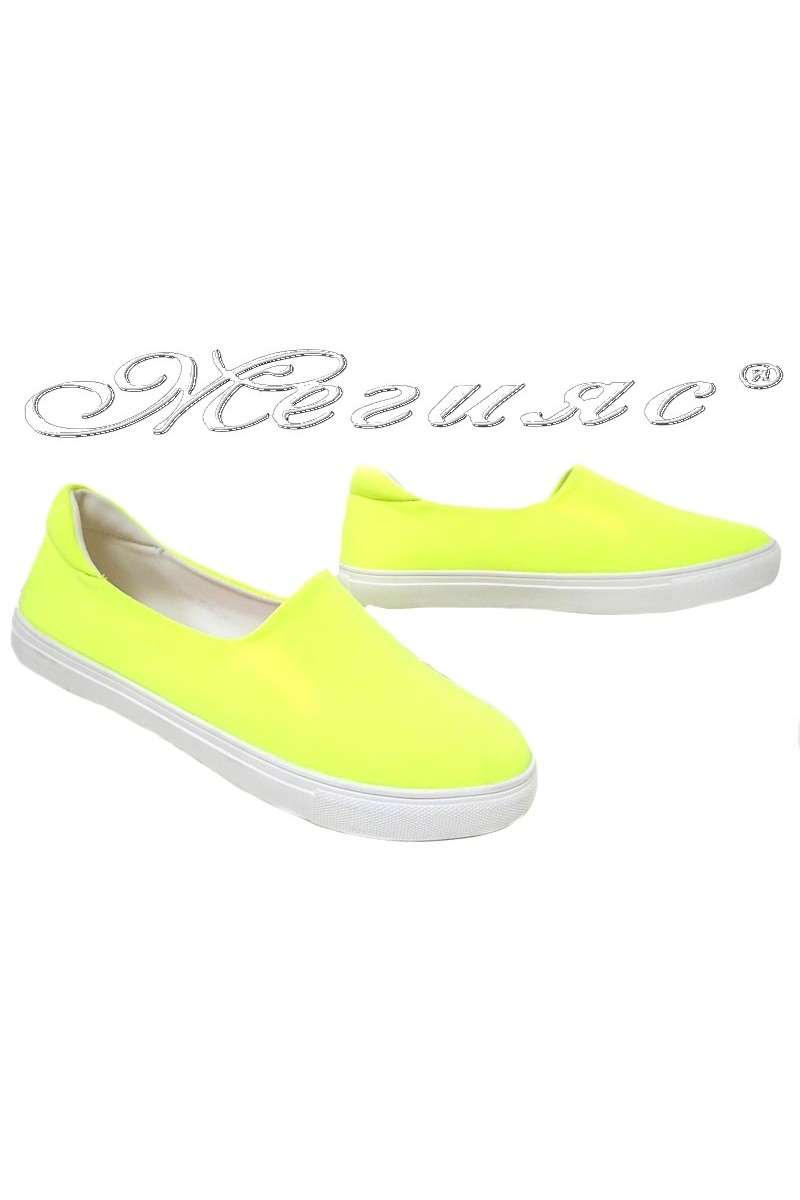 Lady shoes 354 yellow