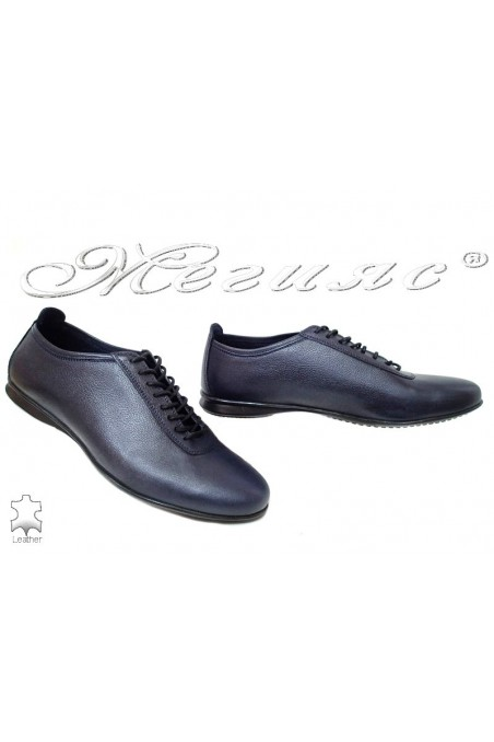 men shoes 3029 blue leather