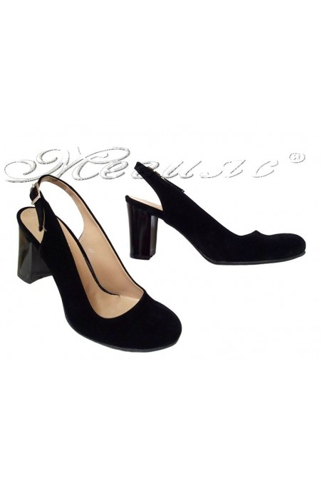 Lady elegant sandals 405 black suede
