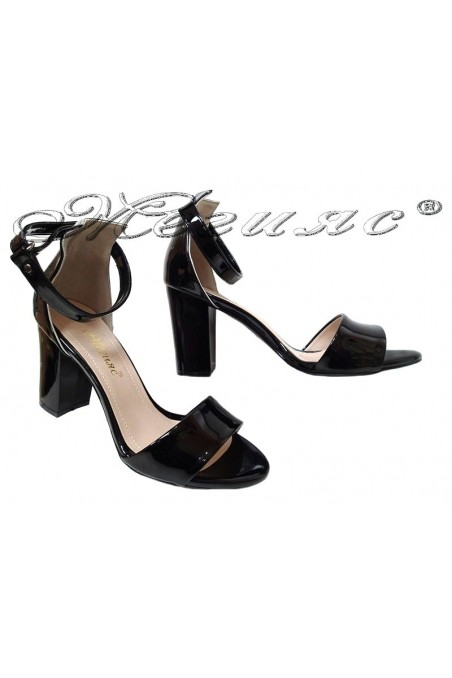 Women elegant sandals 143 high heel black
