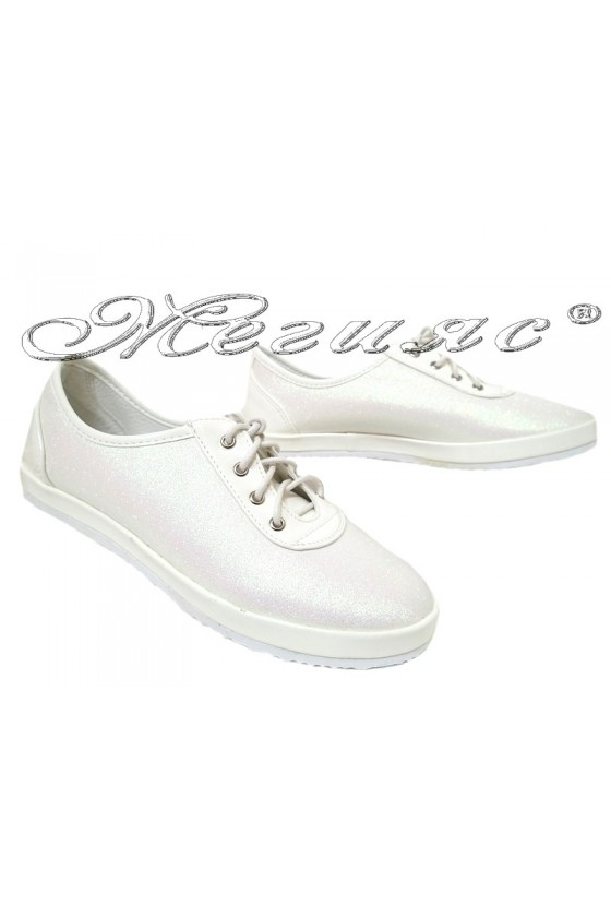 Lady sport shoes 2016-355 white