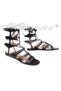 Lady sandals TINA 2016-101 black pu