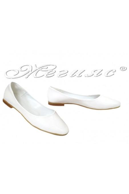 Lady shoes XXL 101 white patent