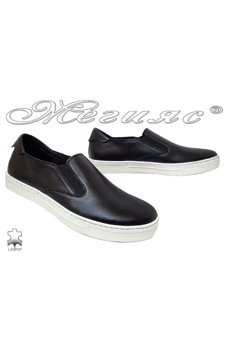 Men shoes 2131 black leather