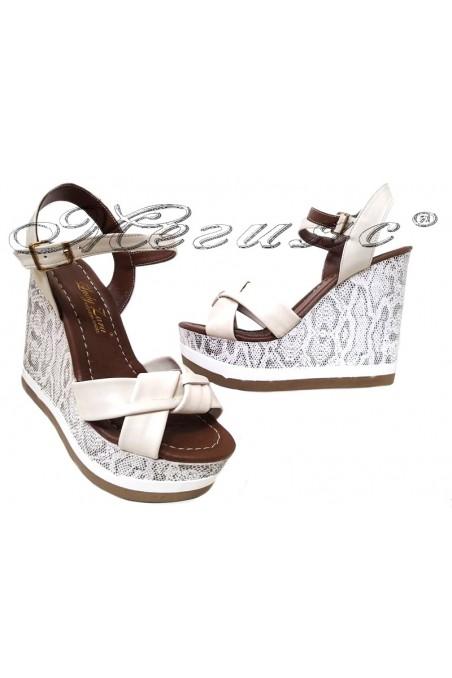 Lady sandals 1125 beige platform
