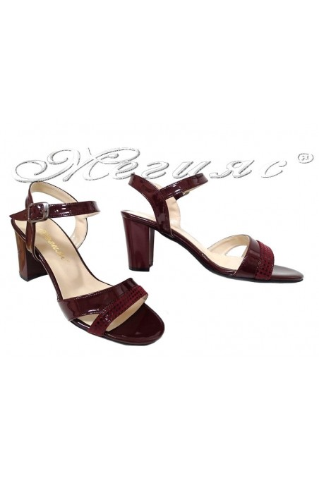Lady sandals 8070 wine patent