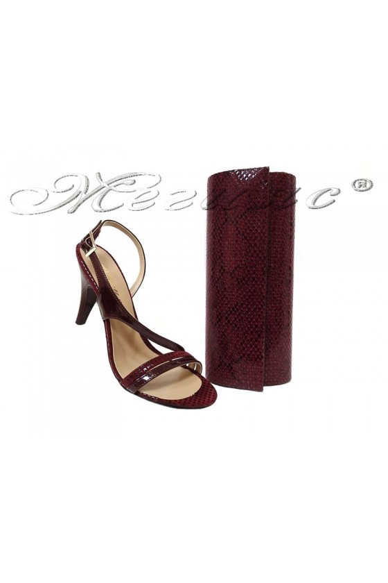 Lady sandals 106 bordo patent with bag 373