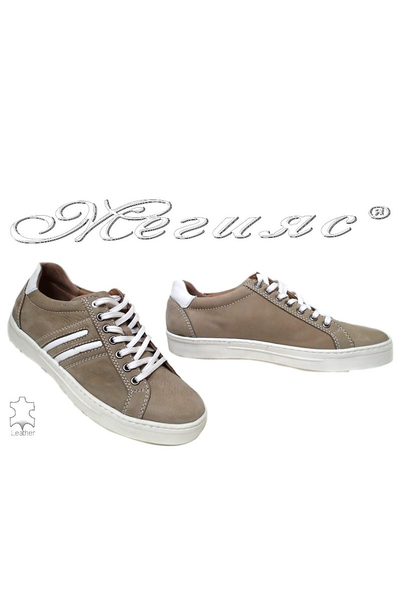Men shoes 2113 beige leather