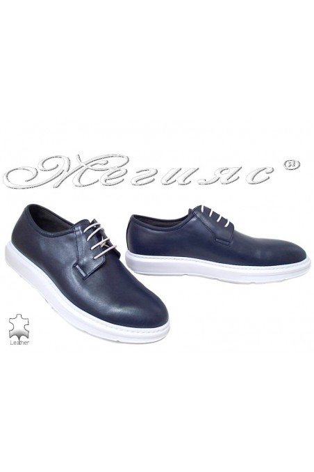 Men shoes 66 blue lether