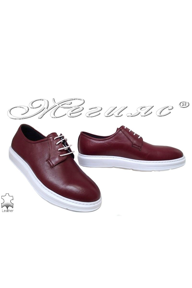 Men shoes 66 bordo lether
