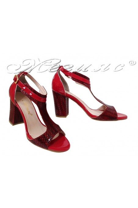 Lady sandals 994 red pu