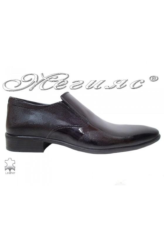 Мъжки елегантни обувки FANTAZIA 14-57 черни от естествен лак