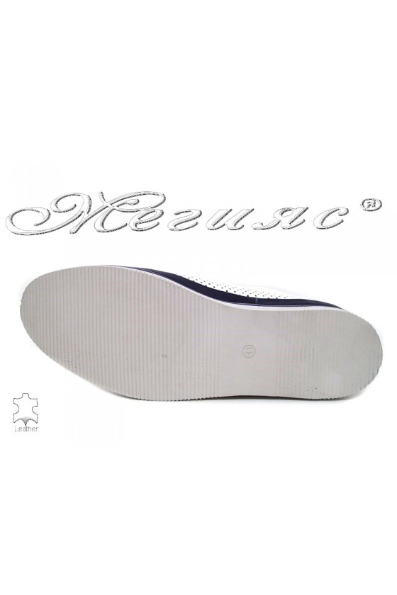 Men's shoes  05-061 white leather