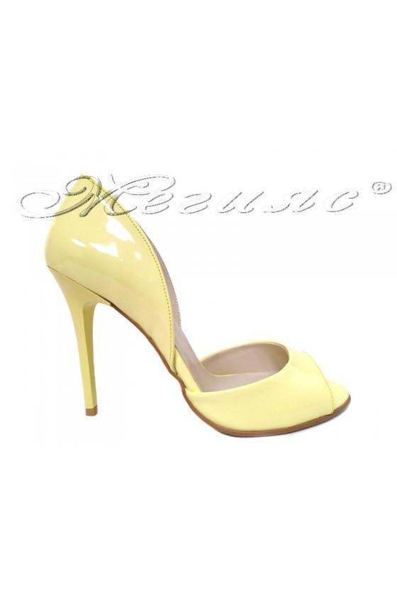 Women elegant sandals 282 Lt.yellow with high heel