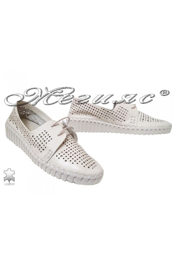Lady shoes 58-321 beige leather