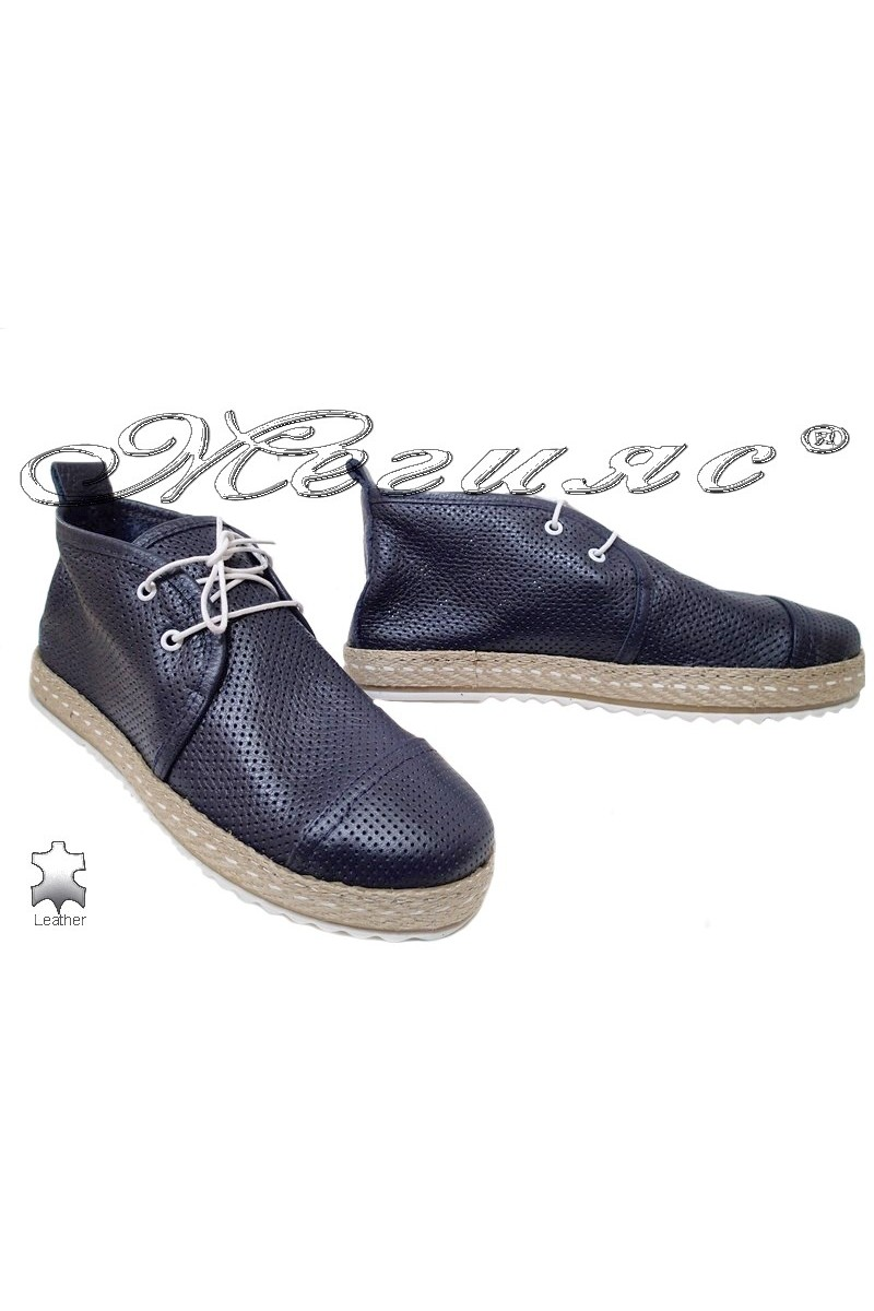 Lady boots 329 blue leather