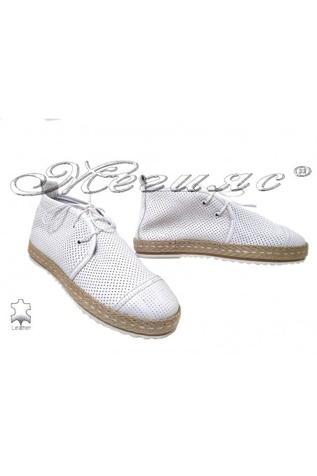 Lady boots 329 white leather