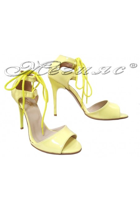 Lady sandals 380 yellow