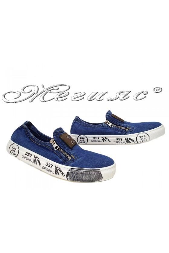 Мъжки обувки 12-05-357 дънкови за всеки ден