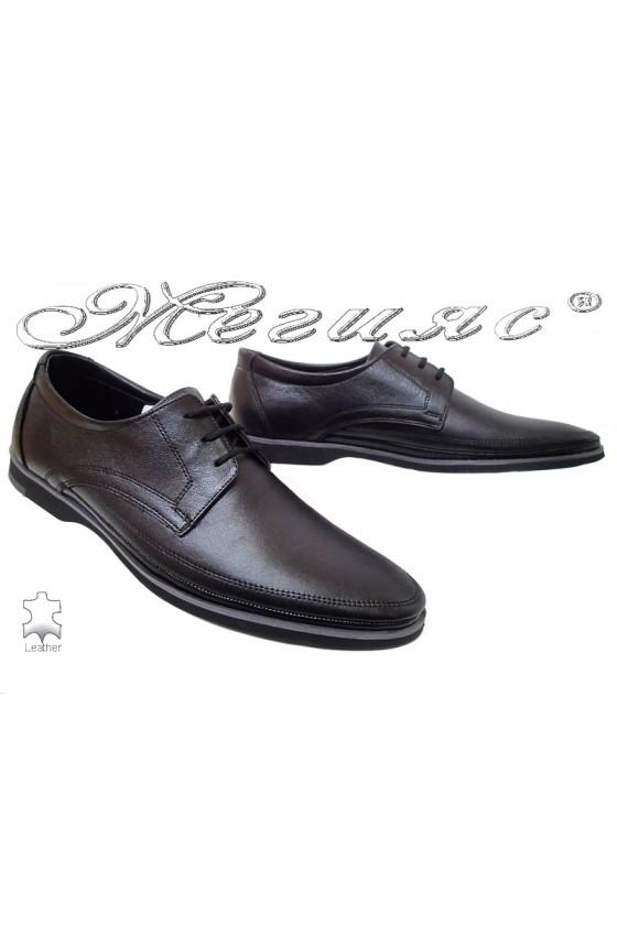 Мъжки обувки Фантазия 504 черни от естествена кожа