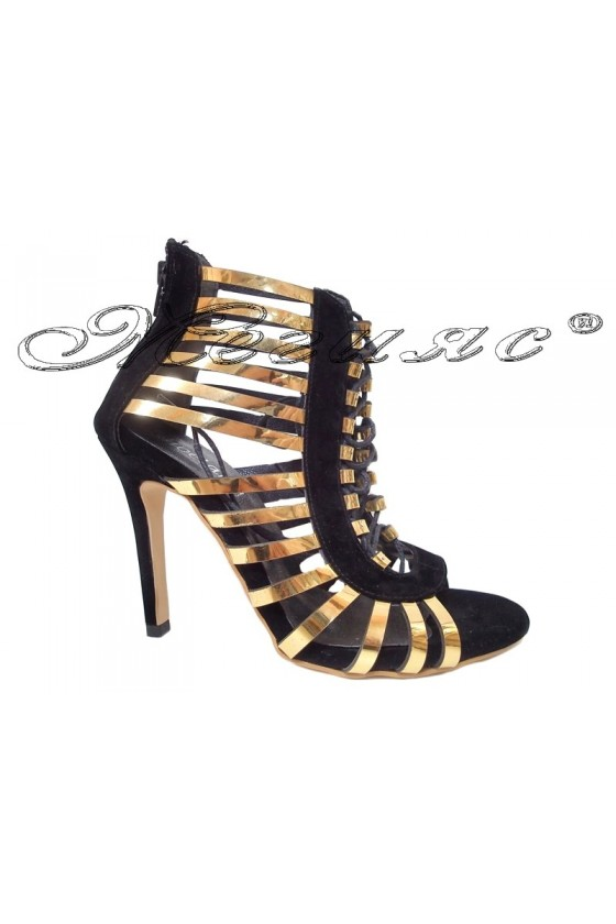 Lady sandals 320 gold and black