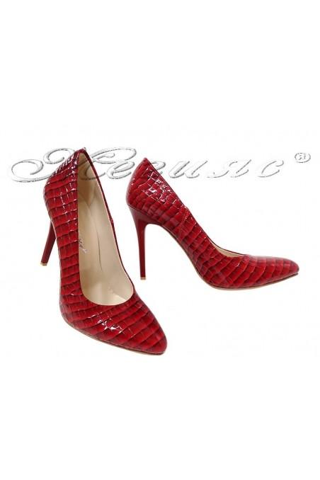 Women elegant  shoes 162 high heel red