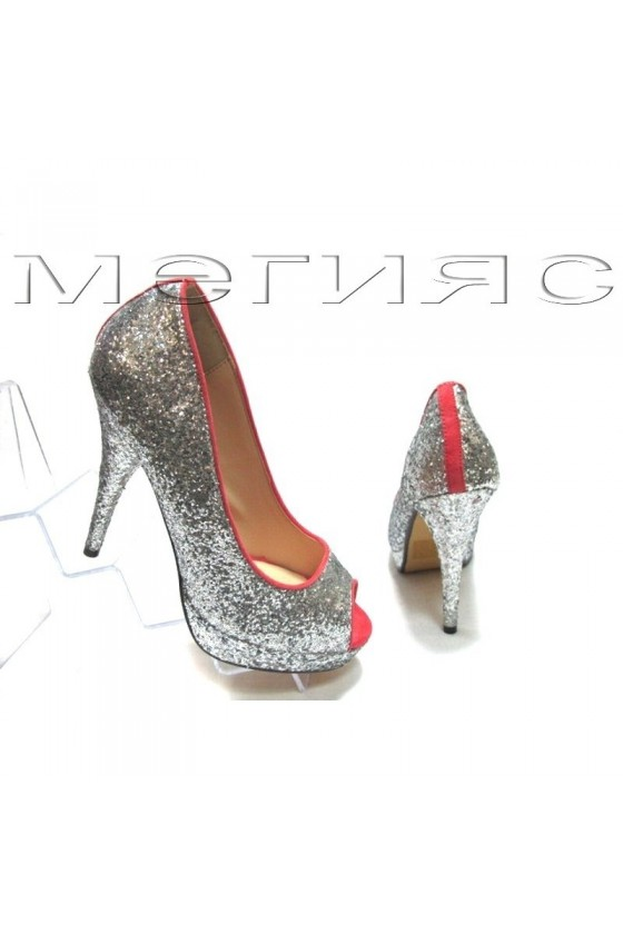 Lady shoes Jeniffer 13-5560 silver with pink