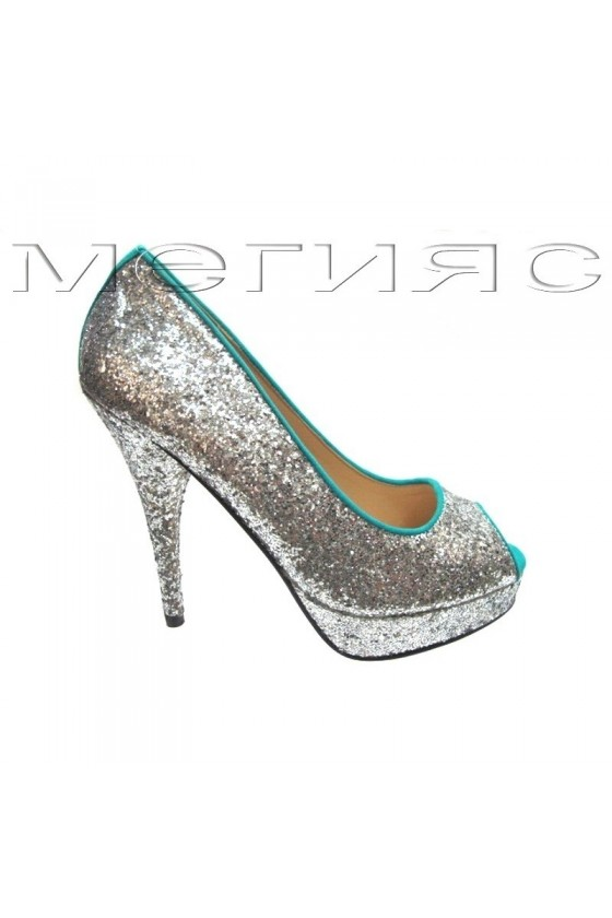 Lady shoes  Jeniffer 13-5560 silver with blue